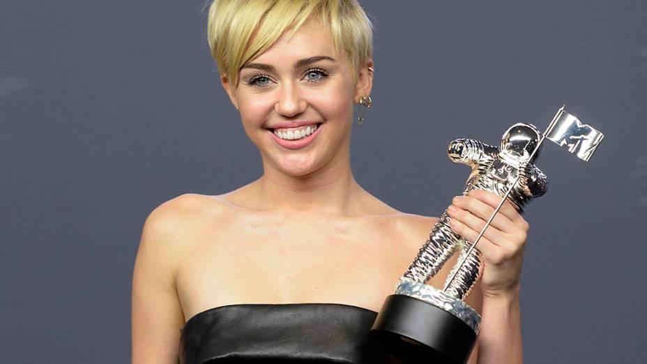 Milley Cyrus, vencedora na categoria clipe do ano