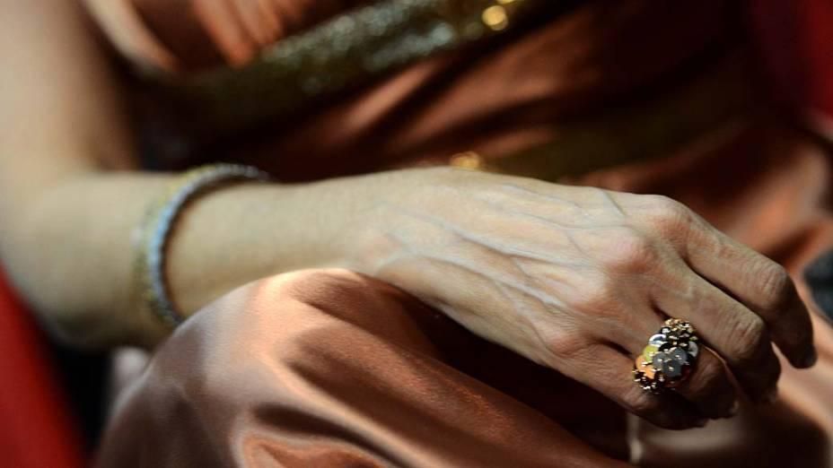 Detalhe das jóias de Andréa Nóbrega