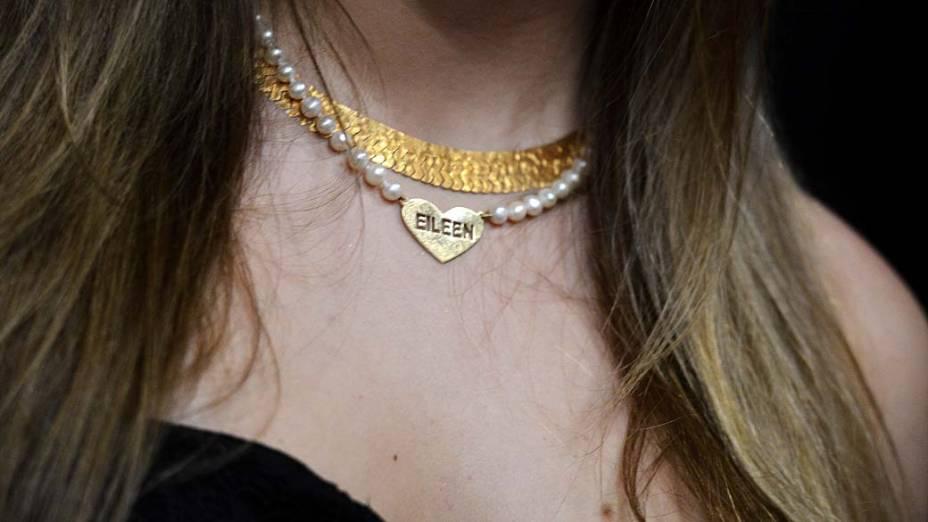 Detalhe das jóias de Aeileen Kunkel