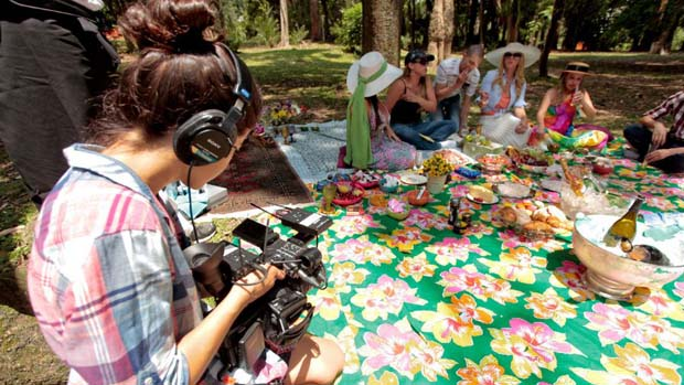 Gravações do programa Mulheres Ricas, da Band
