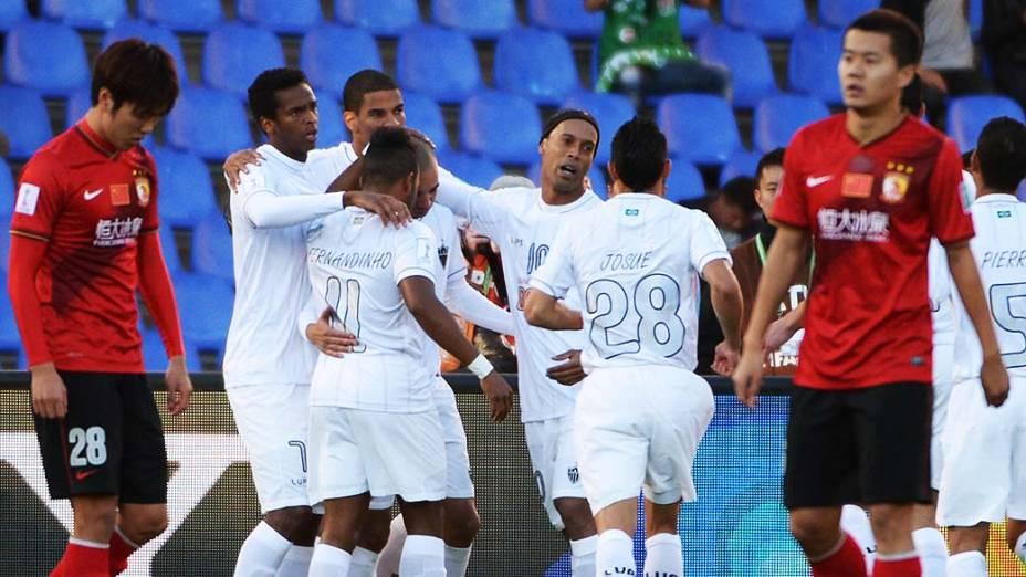 Atlético Mineiro disputa terceiro lugar no Mundial de Clubes contra Guangzhou Evergrande da China, no Grand Stade de Marrakech (Marrocos)