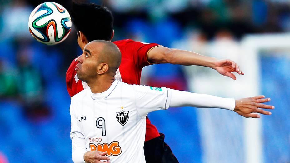 Diego Tardelli do Atlético Mineiro em lance durante a disputa terceiro lugar no Mundial de Clubes contra Guangzhou Evergrande da China, no Grand Stade de Marrakech (Marrocos)
