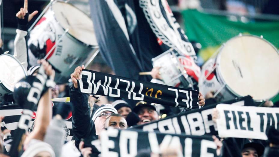 Torcida do Corinthians empurra o time na partida contra o Al Ahly pela semifinal do Mundial de Clubes da Fifa em Toyota