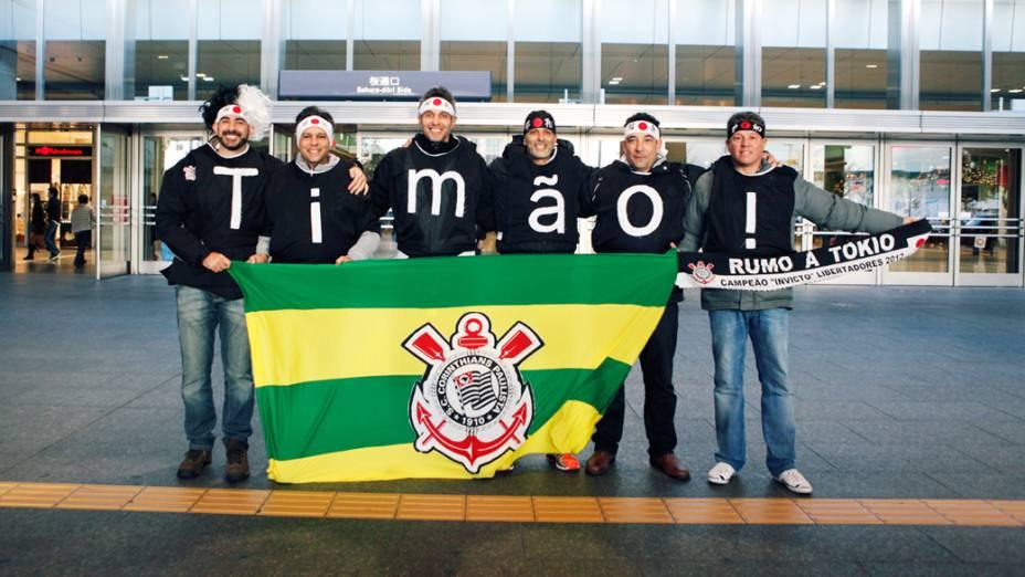 Torcida do Corinthians no Japão, durante o Mundial de Clubes da Fifa