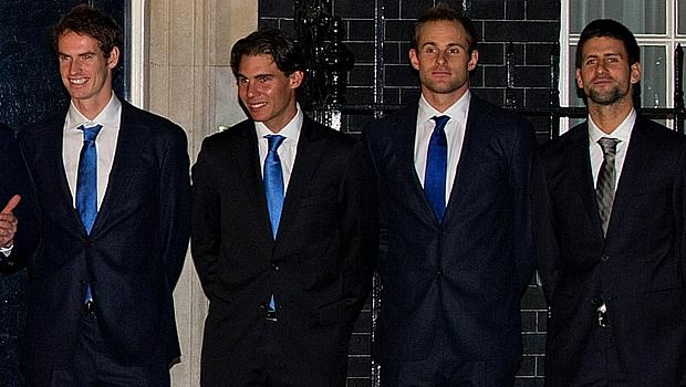 Da esquerda para a direita: Murray, Nadal, Roddick e Djokovic