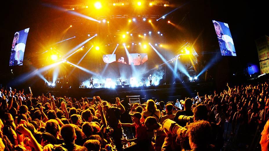 Público assiste ao show da banda Muse no Festival Lollapalooza 2014 no Autódromo de Interlagos, em São Paulo