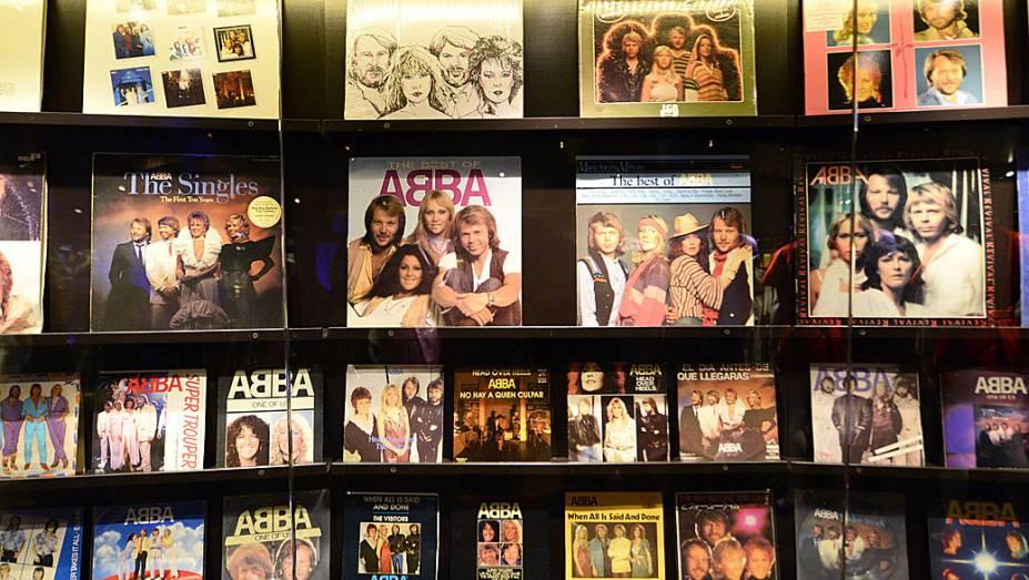 Sala dos discos, no primeiro museu permanente do Abba