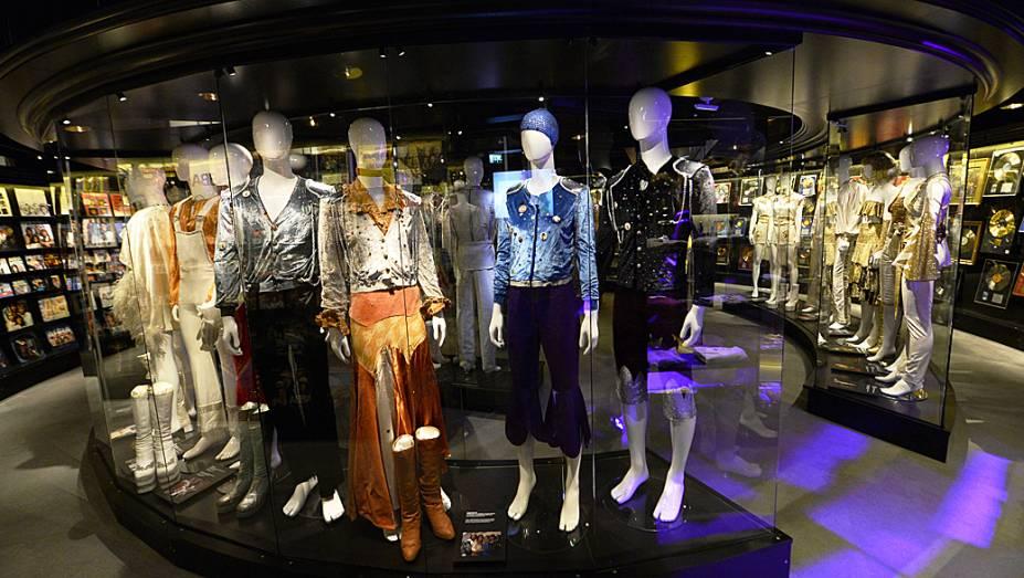 Sala de trajes, no primeiro museu ABBA permanente do mundo