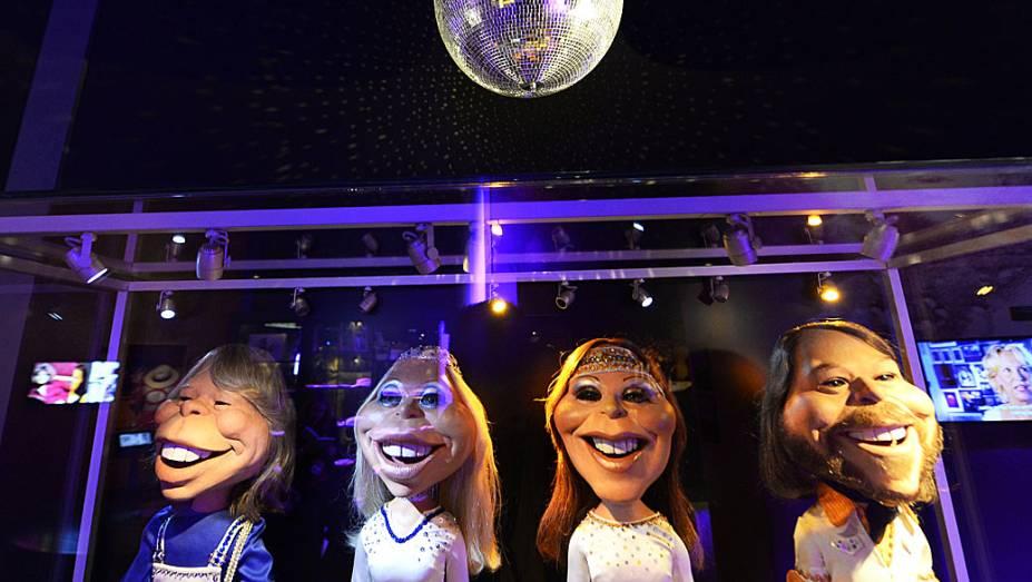 Bonecos representam membros do Abba em primeiro museu permanente do mundo
