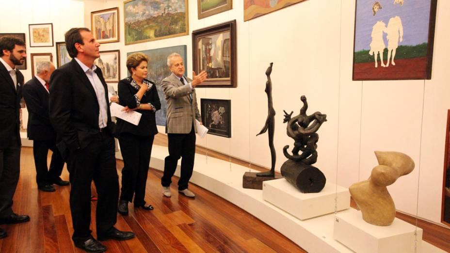 O prefeito Eduardo Paes, e a presidente DIlma Rousseff na inauguração do Museu de Arte do Rio (MAR)