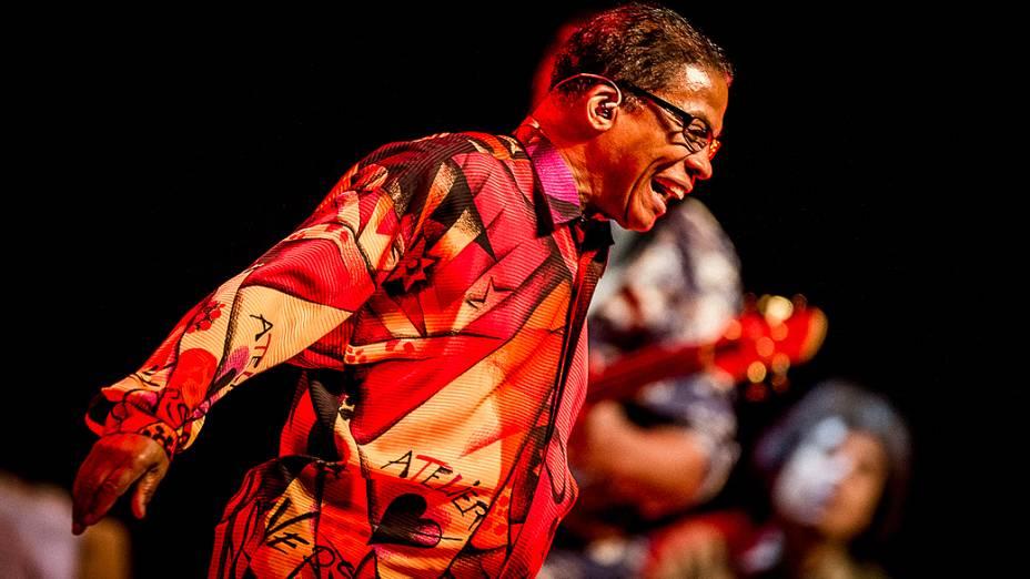 Músico Herbie Hancock se apresenta no Credicard Hall, em São Paulo