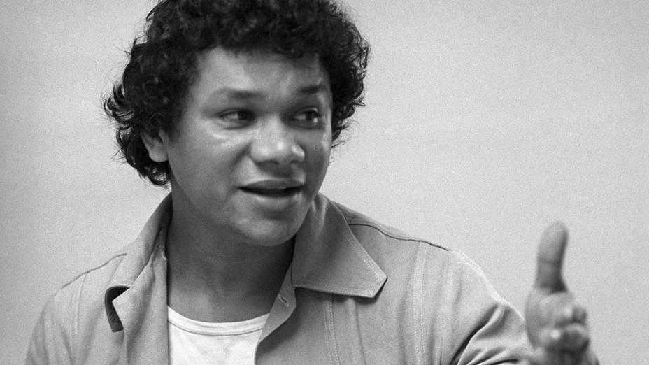 Instrumentista, cantor e compositor brasileiro José Domingos de Morais, conhecido como Dominguinhos. Foto de 1976