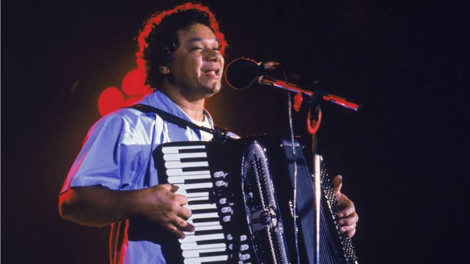 Músico e compositor Dominguinhos, em 1985