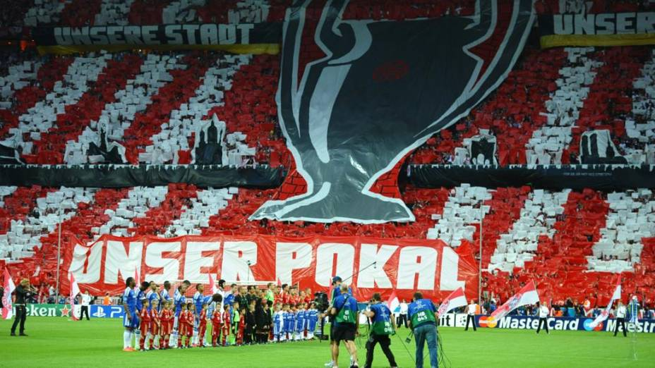 Na Alemanha, torcida do Bayern de Munique faz festa para o time
