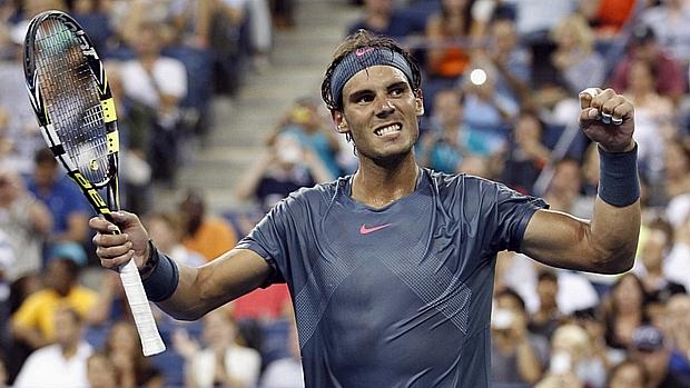 Rafael Nadal não teve jogo fácil contra o alemãoKohlschreiber, no US Open 2013