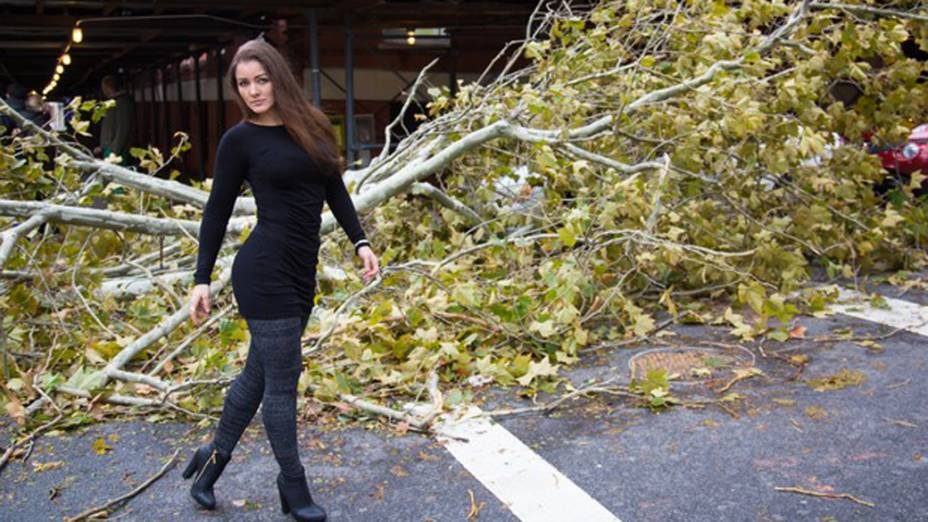 Nana Gouvêa em Nova York após a tempestade Sandy