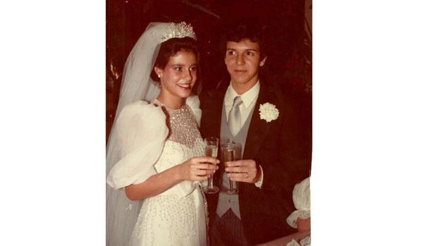 Casamento de Narcisa Tamborindeguy e Boninho, em 1983