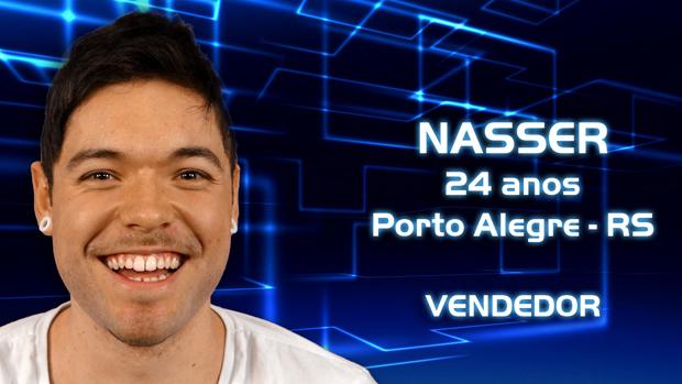 Nasser, de 24 anos, é participante do BBB 2013