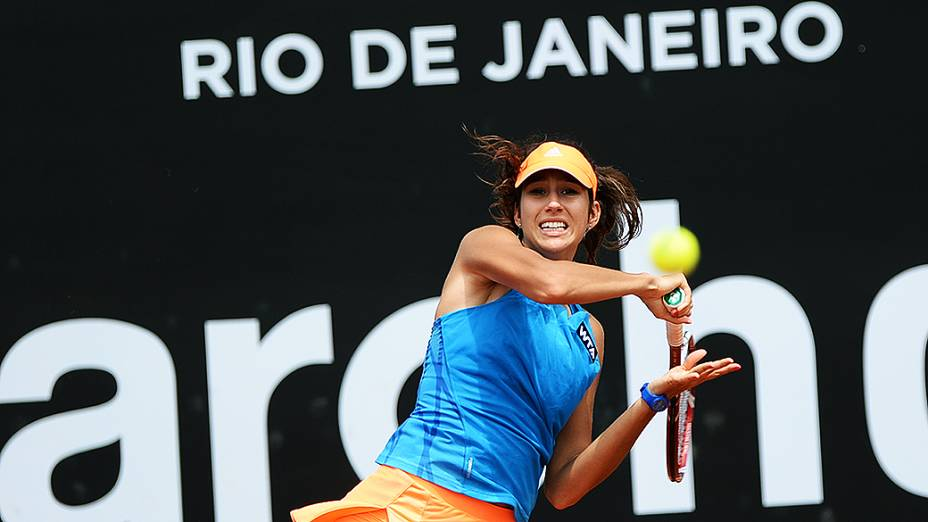 A italiana Nastassja Burnett durante o Rio Open 2014