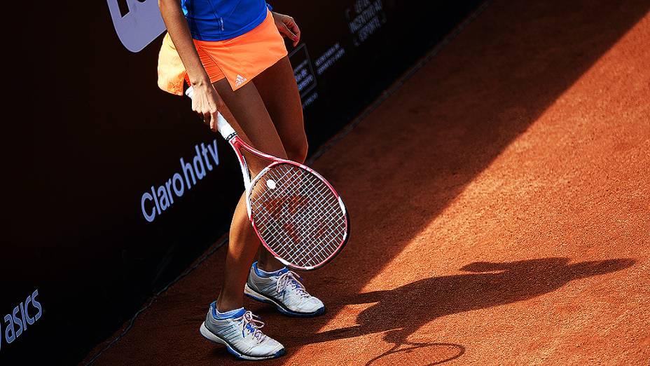 A tenista Nastassja Burnett durante o Rio Open 2014