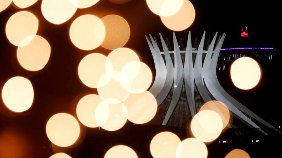 Decoração de Natal na Catedral de Brasília, Brasil