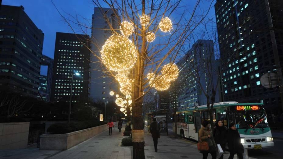 Decoração de Natal em Seul, Coreia do Sul