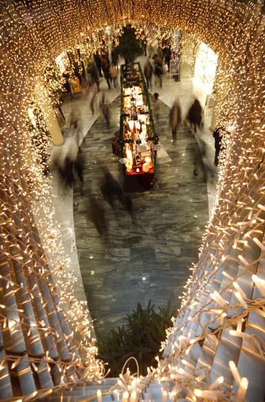 Decoração de Natal em shopping center, Áustria
