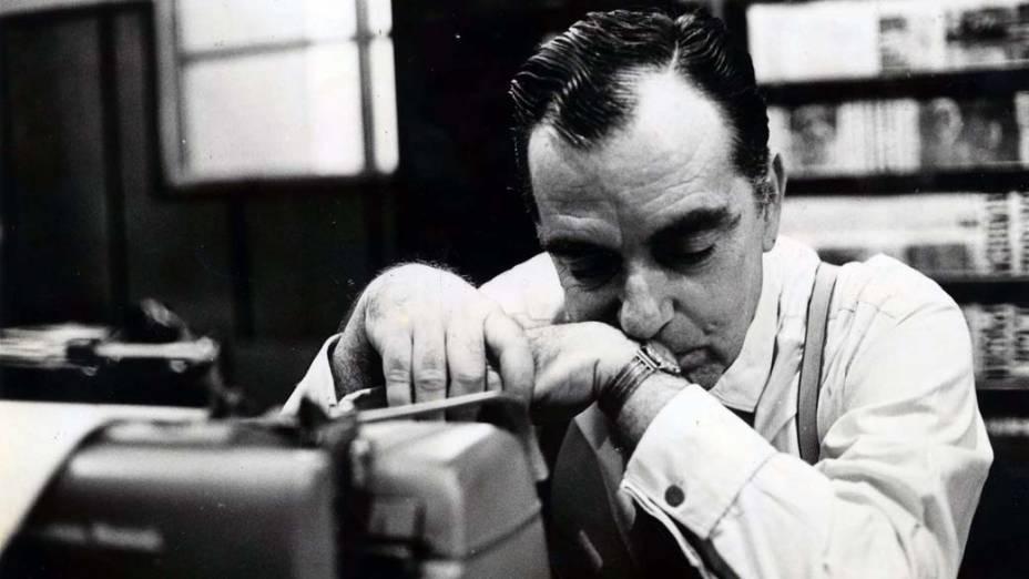 O escritor Nelson Rodrigues, em 1965