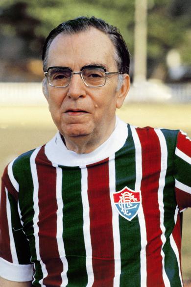 Nelson Rodrigues com a camisa do Fluminense, em 1980