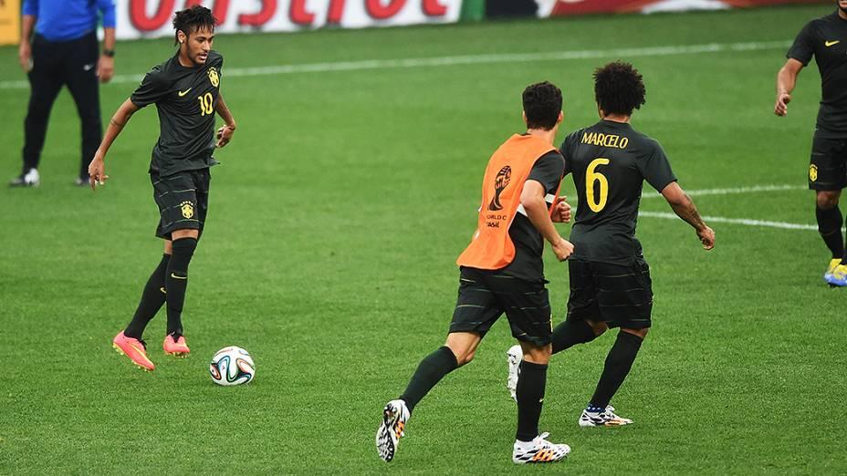 Treino da seleção brasileira antes do jogo contra a Croácia, em São Paulo