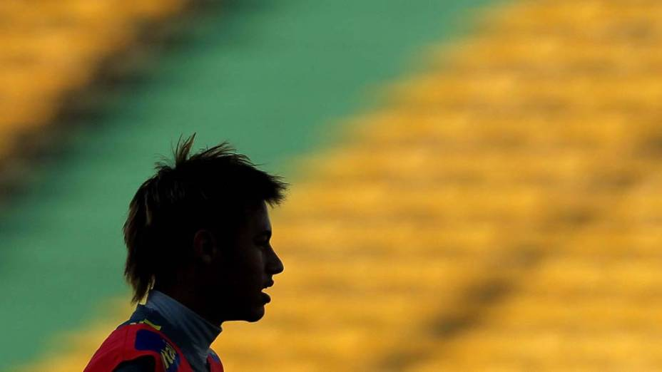 Neymar no treinamento da Seleção Brasileira durante a Copa América, Argentina