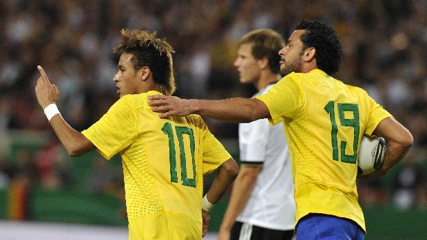Neymar marcou o segundo gol da seleção brasileira na derrota para a Alemanha