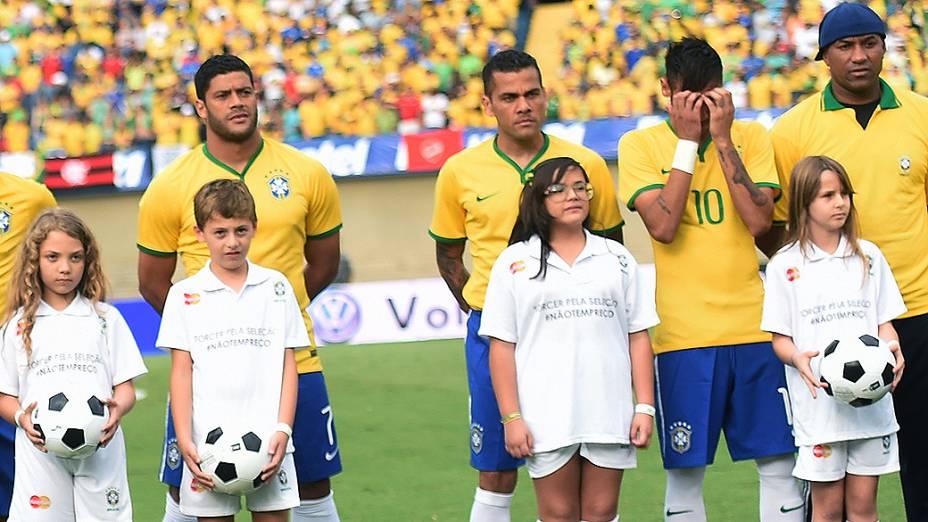 A seleção brasileira venceu o Panamá no Serra Dourada, em Goiânia