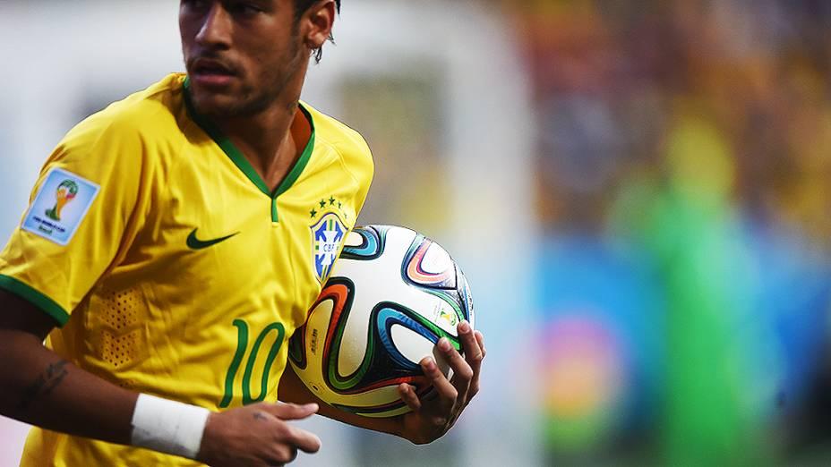 Neymar na partida contra a Croácia no Itaquerão, em São Paulo