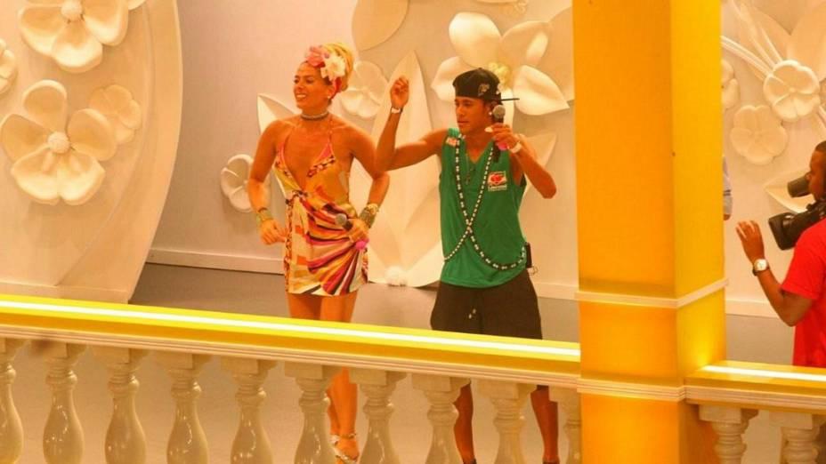 Neymar faz uma participação no programa de Adriane Galisteu em Salvador