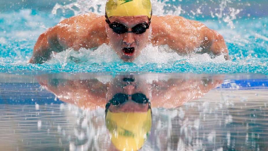 """Nadador australiano Nick DArcy durante prova do campeonato """"New South Wales"""" em Sydney, Austrália"""