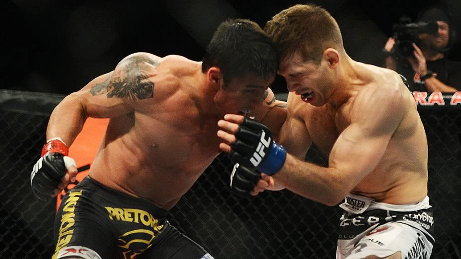 Diego Nunes e Nik Lentz durante UFC São Paulo no ginásio do Ibirapuera