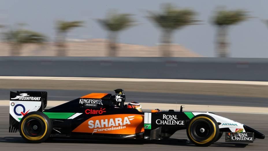 Nico Hulkenberg, no cirtuito de Sahkir, Bahrein