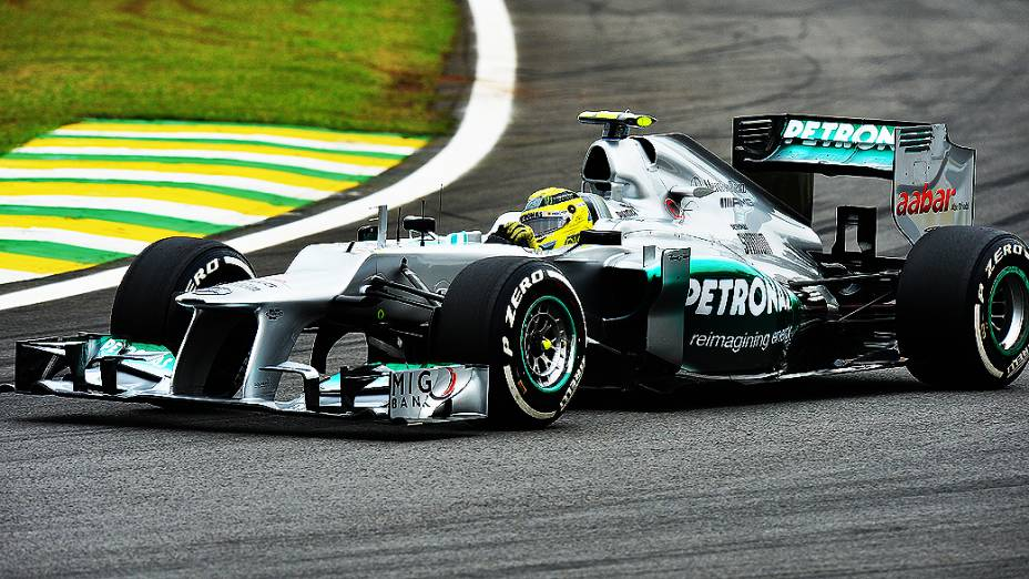 Nico Rosberg, durante treino classificatório para o GP do Brasil