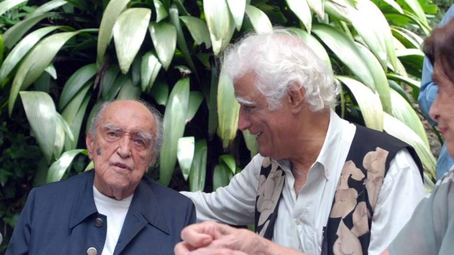 Niemeyer e Ziraldo, em 2007