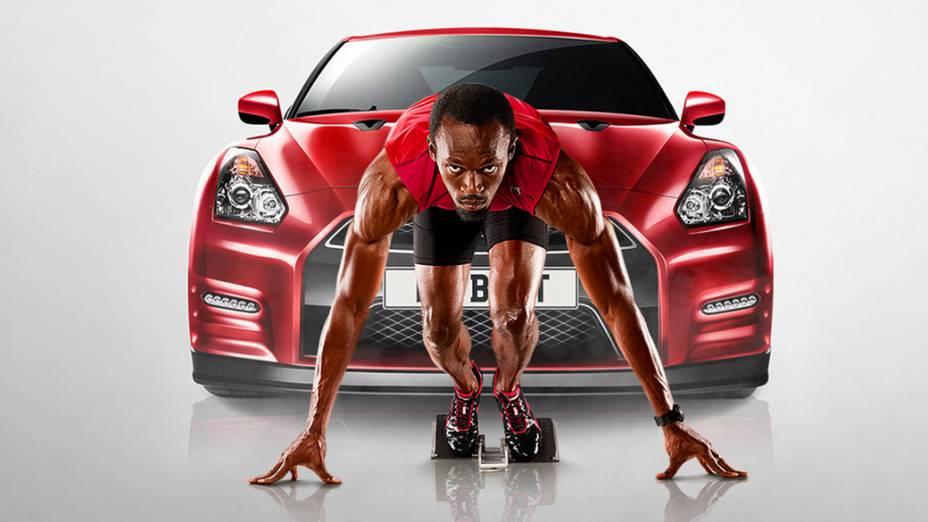 Usain Bolt participa de campanha para a Nissan