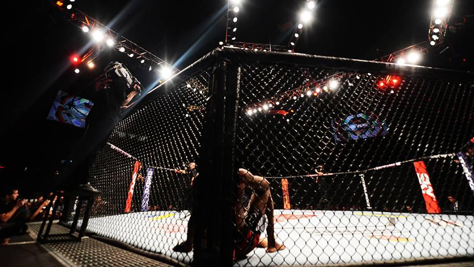 Nobre e Marajó durante UFC São Paulo no ginásio do Ibirapuera