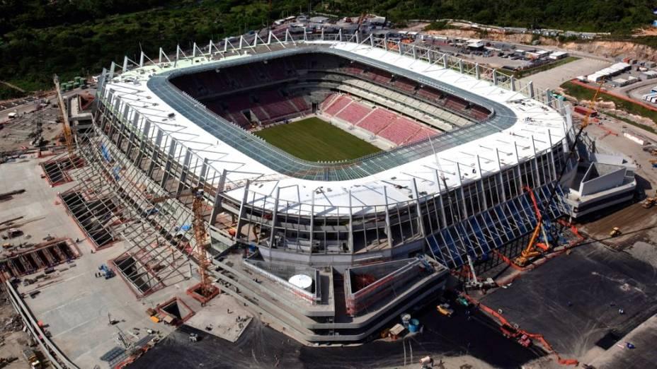 A Arena Pernambuco pouco antes da inauguração