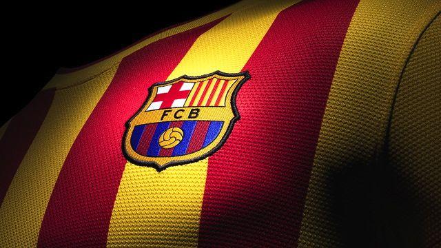 A nova camisa reserva do Barcelona, com as cores da Catalunha