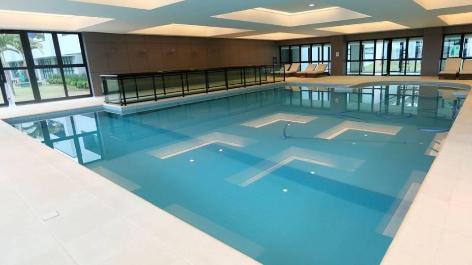 Reforma na Granja Comary, concentração da seleção brasileira: piscina coberta
