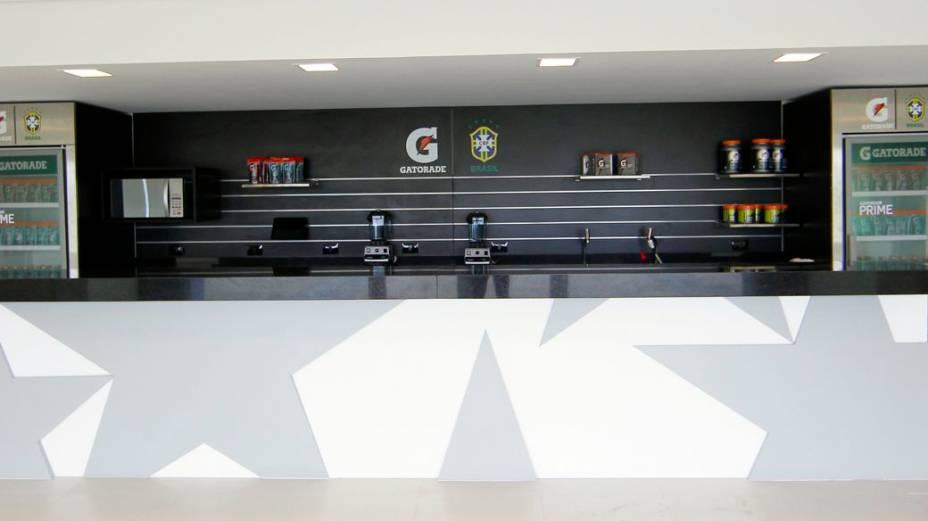 Reforma na Granja Comary, concentração da seleção brasileira: refeitório