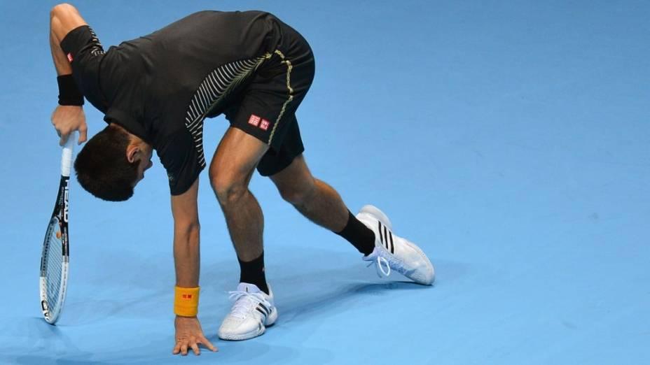 Novak Djokovic na decisão do ATP Finals 2012, em Londres