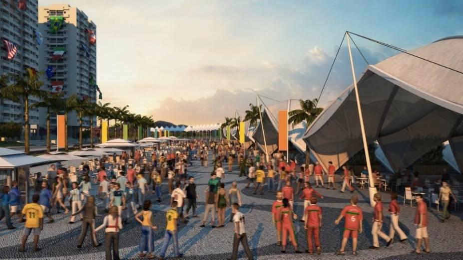 Na Rua Carioca da Vila Olímpica, atletas poderão socializar durante o período dos Jogos