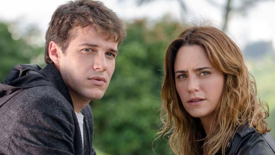 Maurício (Jayme Matarazzo) e Malu (Fernanda Vasconcellos) na novela Sangue Bom<br>