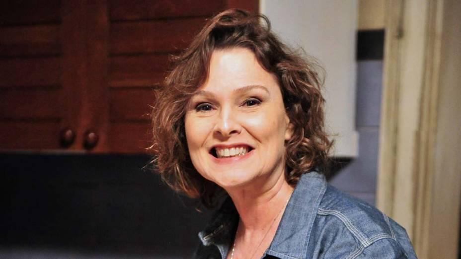 Salma (Louise Cardoso) na novela Sangue Bom<br>